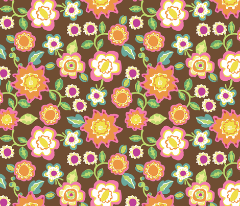 frankies_brown_200_repeat fabric by mcuetara on Spoonflower - custom fabric