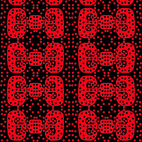 bows with red dots fabric by dk_designs on Spoonflower - custom fabric
