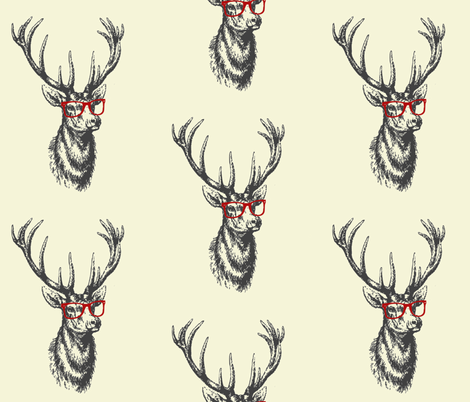 bigdeercream fabric by melgeri on Spoonflower - custom fabric