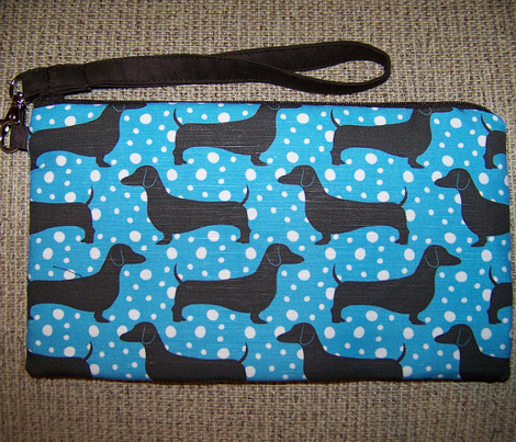 Polka Dachshunds (Blue and Black)