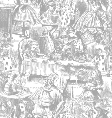 Alice's Adventures in Toile - Gray