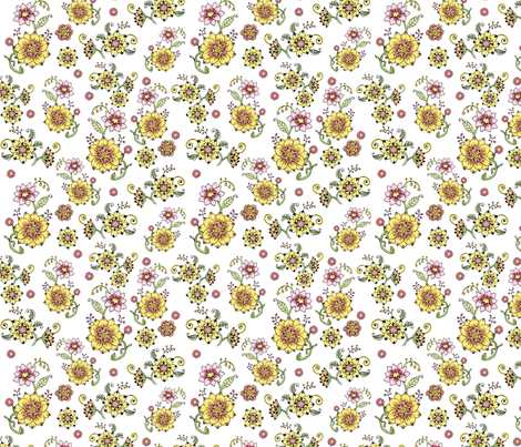 cameo_white_repeat200 fabric by mcuetara on Spoonflower - custom fabric