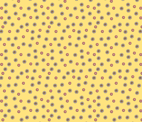 cameo_ditzy_200_yellow fabric by mcuetara on Spoonflower - custom fabric