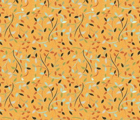 Leaves fabric by kirpa on Spoonflower - custom fabric