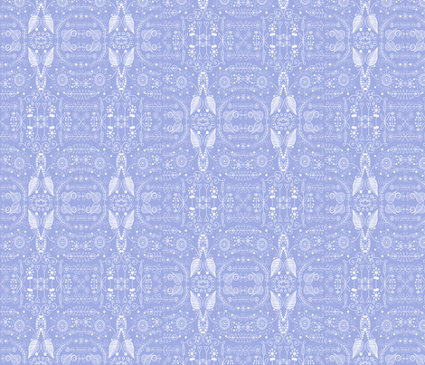 8_inch_blue_doodle fabric by raining_cats_&_dogs on Spoonflower - custom fabric