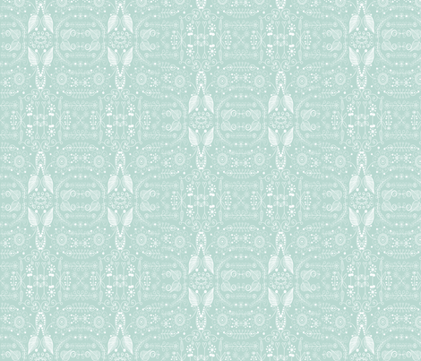 8_inch_green_doodle fabric by raining_cats_&_dogs on Spoonflower - custom fabric