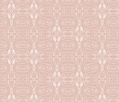 8_inchpink_doodle fabric by raining_cats_&_dogs on Spoonflower - custom fabric