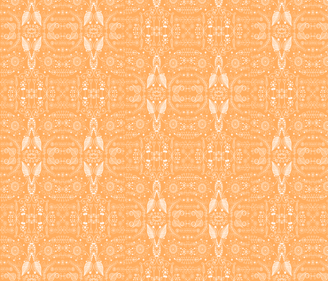 8_inch_orange_doodle fabric by raining_cats_&_dogs on Spoonflower - custom fabric