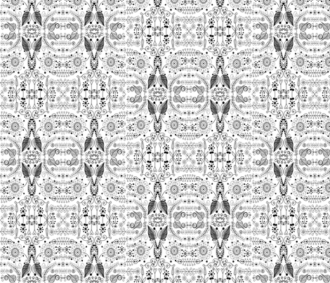 8_inch_black_on_white_doodle fabric by raining_cats_&_dogs on Spoonflower - custom fabric