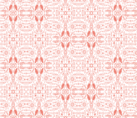 8_inch_red_on_white_doodle fabric by raining_cats_&_dogs on Spoonflower - custom fabric