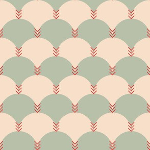 Scallops & Chevrons_Coral Colorway