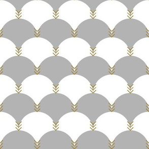 Scallops & Chevrons_Black & White Colorway