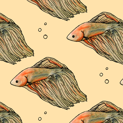 Beta on Vanilla fabric by pond_ripple on Spoonflower - custom fabric