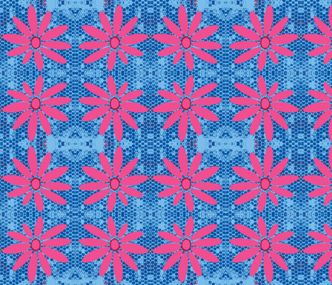 Daisy - Pink and Blue Spotted fabric by eyespotdesigns on Spoonflower - custom fabric