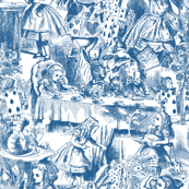Alice's Adventures in Toile - monaco blue