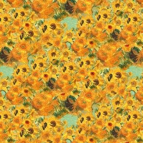 Bright Yellow Sunflowers by Van Gogh