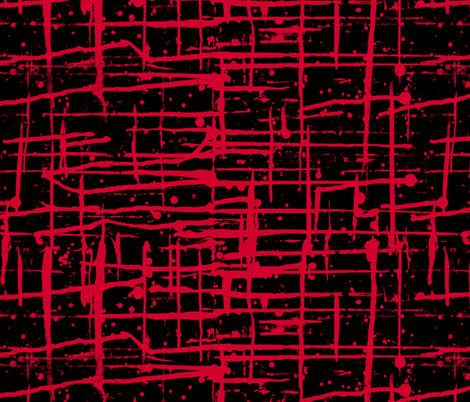 Ink Splatter II. Red and Black fabric by pond_ripple on Spoonflower - custom fabric