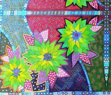 flower, flowers, fleurs, fleur, flor, flores fabric by lita_blanc on Spoonflower - custom fabric