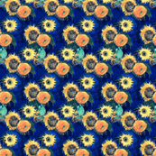 Blue Sunflowers Van Gogh (smaller version)