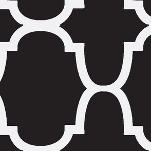 Quatrefoil- Black/White Reverse-Large