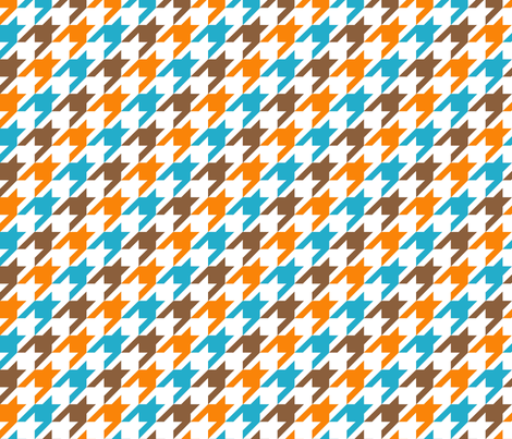 Hountstooth Tricolor fabric by mooddesignstudio on Spoonflower - custom fabric