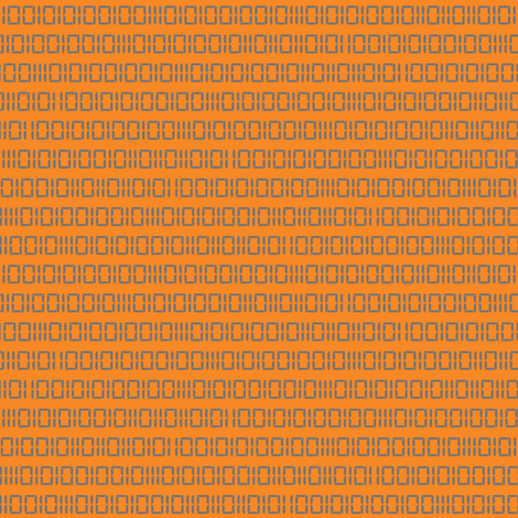 Robotika Binary (Orange) fabric by robyriker on Spoonflower - custom fabric