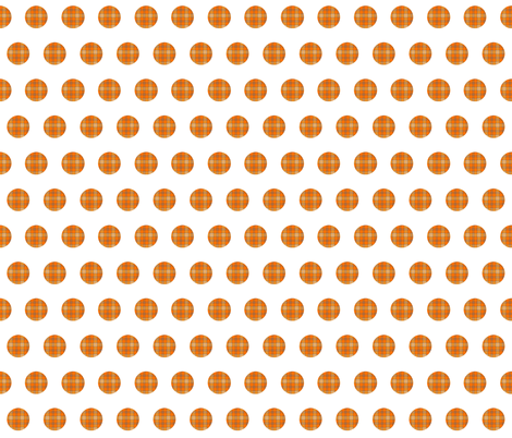 ORANGE GROVE TARTAN  POLKA DOTS fabric by bluevelvet on Spoonflower - custom fabric