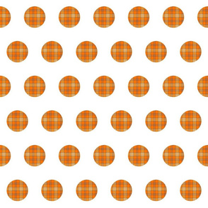 ORANGE GROVE TARTAN  POLKA DOTS