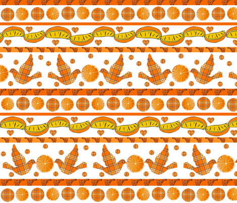 ORANGE GROVE DELIGHTS fabric by bluevelvet on Spoonflower - custom fabric