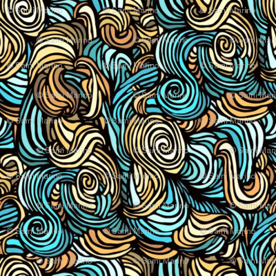 blue and brown tangle