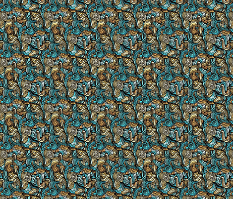 blue and brown tangle fabric by crafts51432 on Spoonflower - custom fabric