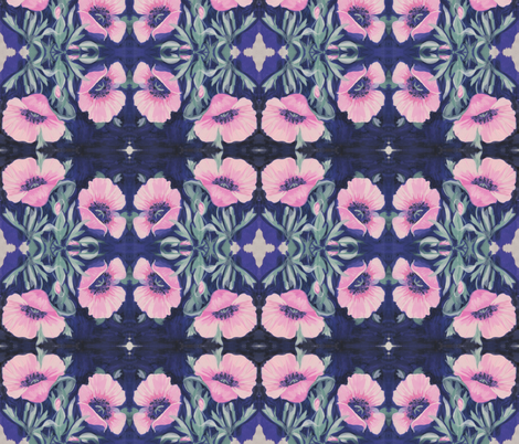 Pink Poppies fabric by magicalumbrella on Spoonflower - custom fabric
