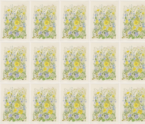 Grandmas Garden 1. fabric by magicalumbrella on Spoonflower - custom fabric