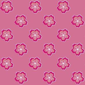 Sakura Batik Cherry Blossom on Pale Pink