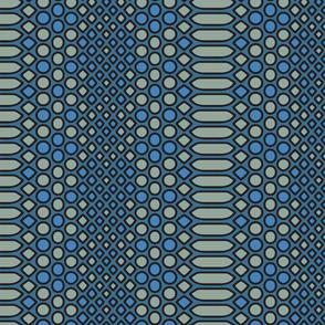 Blue Snake Geometric