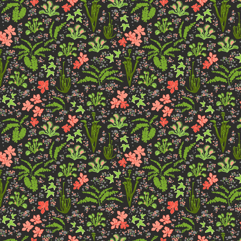 Secret Garden fabric by einekleinedesignstudio on Spoonflower - custom fabric