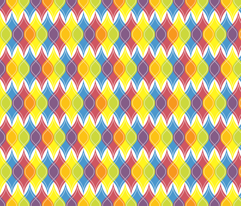 Rainbow Baubles fabric by robyriker on Spoonflower - custom fabric