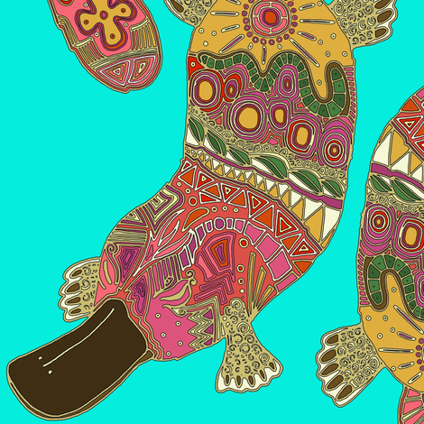 duck-billed platypus fabric by scrummy on Spoonflower - custom fabric