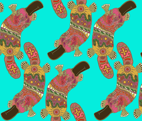 duck-billed platypus fabric by scrummy on Spoonflower - custom fabric