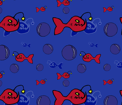 angler fish fabric by pins_x_needles on Spoonflower - custom fabric