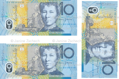 Australian 10 dollar banknote