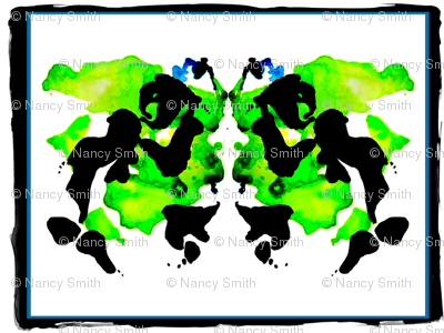 green ink blot