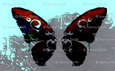ink blot butterfly
