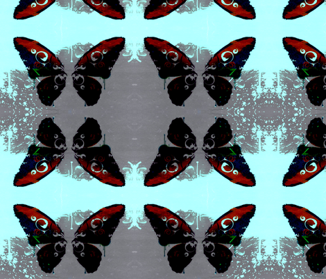 ink blot butterfly fabric by nascustomwallcoverings on Spoonflower - custom fabric