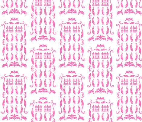 TDamaskPink fabric by morrigoon on Spoonflower - custom fabric