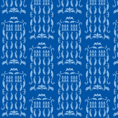 Phone Box Damask blue blue