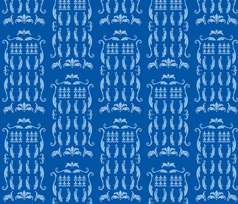 Blue Box Damask blue blue fabric by morrigoon on Spoonflower - custom fabric