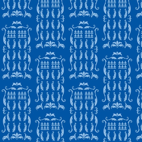 Blue Box Damask blue blue