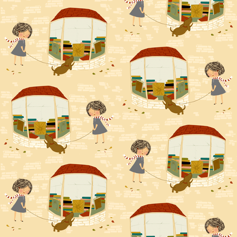 An autumn stroll fabric by laura_the_drawer on Spoonflower - custom fabric