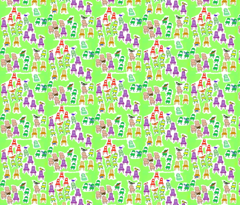 Welcome to the Party! fabric by robin_rice on Spoonflower - custom fabric